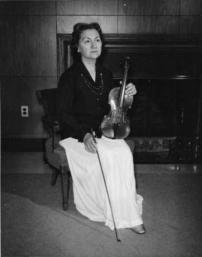 Ann with her violin