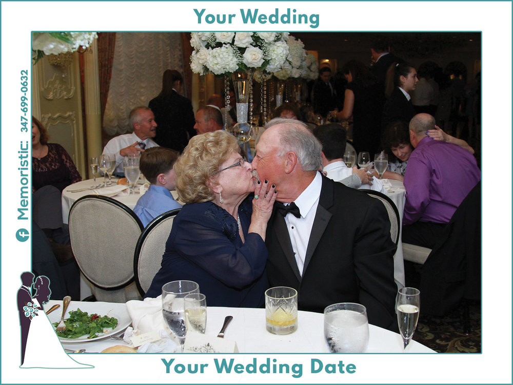 An example frame for a wedding event and capturing candid photos