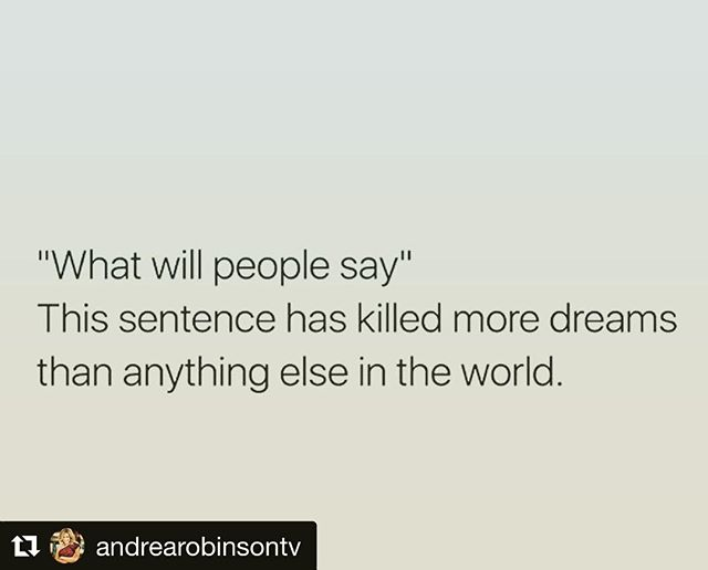 What she said 👉🏽 @andrearobinsontv ❤️ ・・・ ✨ Fact: they will say something. ✨ Some will love what you are doing. ✨ Some will hate what you are doing. ✨ Some will stay quiet and you'll wonder if they notice you. ✨ Here's the thing, EVERYONE will have something to say. ✨ How will you respond? Will you curl up and back into a corner and stop doing what you feel you need to be doing? ✨ Nope, you are going to keep shining. Not shrinking but shining. Don't put your light on a dimmer to make them feel more comfortable. ✨ There will always be naysayers. There will always be people you thought would cheer you on. There will be perfect strangers that root for you too. ✨ It's just the way it will be and once we accept that, we can move forward bravely. ✨ Expect the most from yourself and less from others and just walk proudly doing with you feel called to do. ✨ What you are doing matters, no matter who tells you or doesn't tell you. ✨ Shine that sweet little light today. ✨ #livingourbestlives #youdoyougirl #boomshakalaka #gratefulhearthappygirl #lessismore2018 #bebold  #bebrave #behonest #thespeakingspot