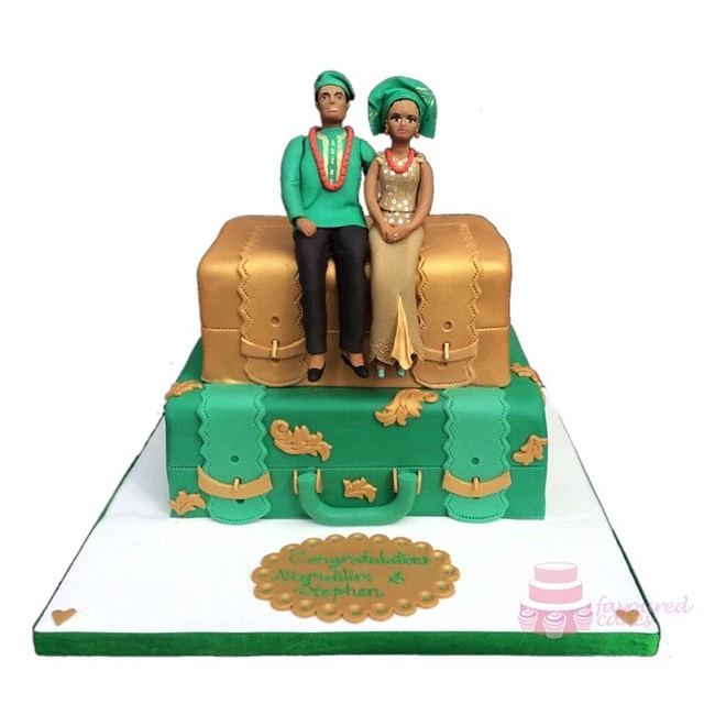 2 Tier Nigerian Engagement Cake SC10