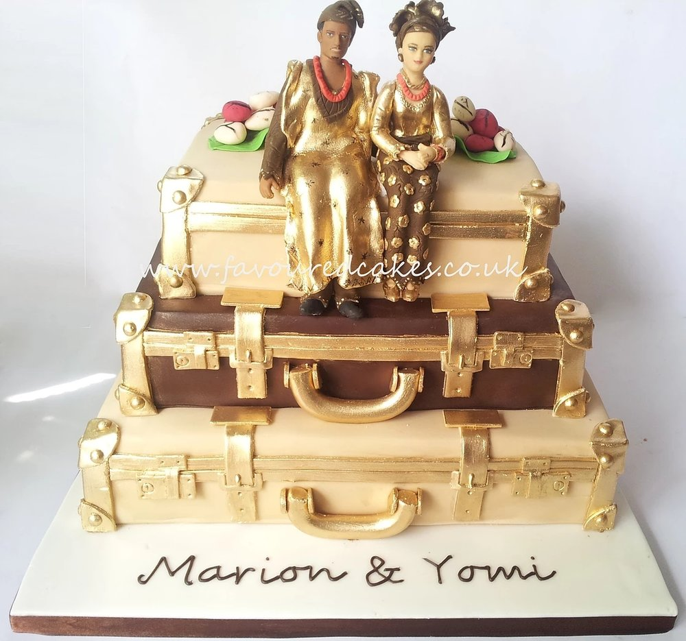 Nigerian Wedding Suitcase Cake SC04