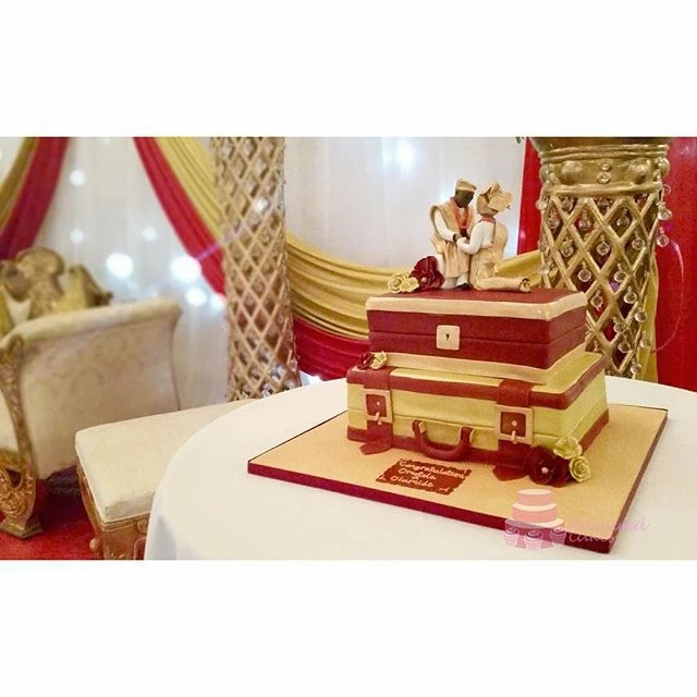2 Tier Nigerian Engagement Cake SC11