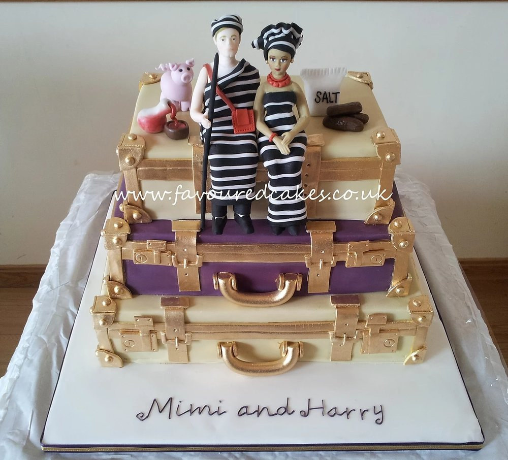 Nigerian Wedding Suitcase Cake SC05