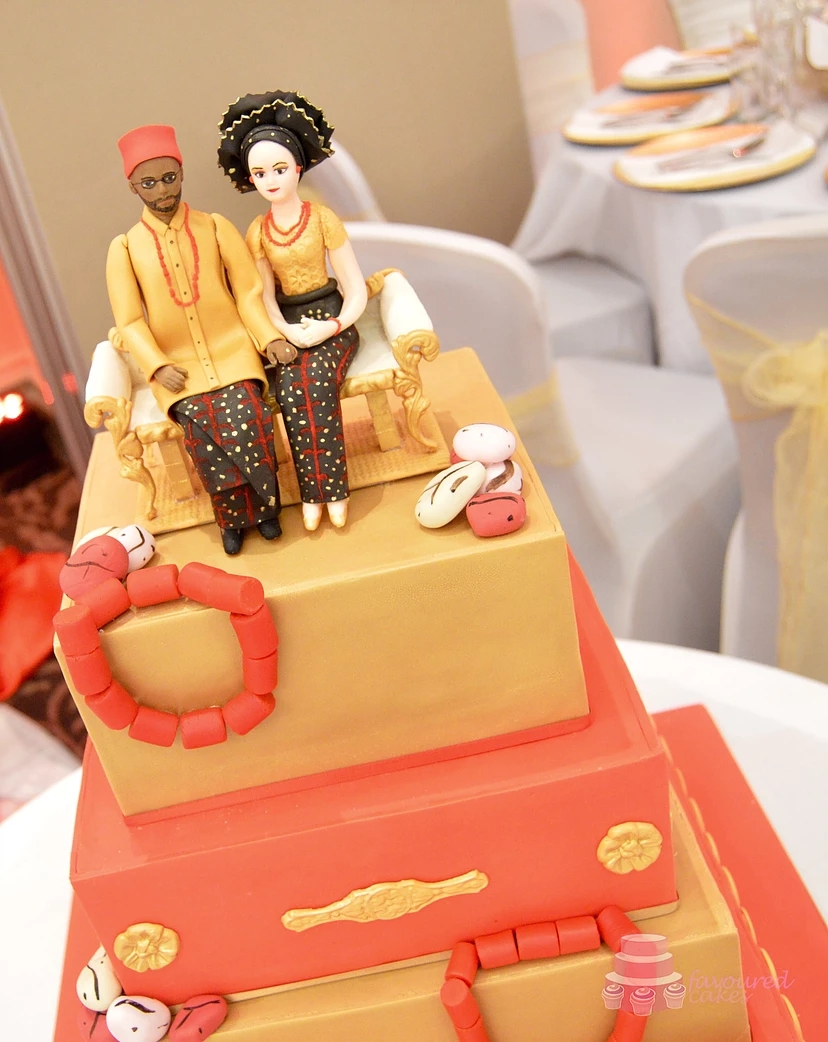 4 Tier African Theme Cake