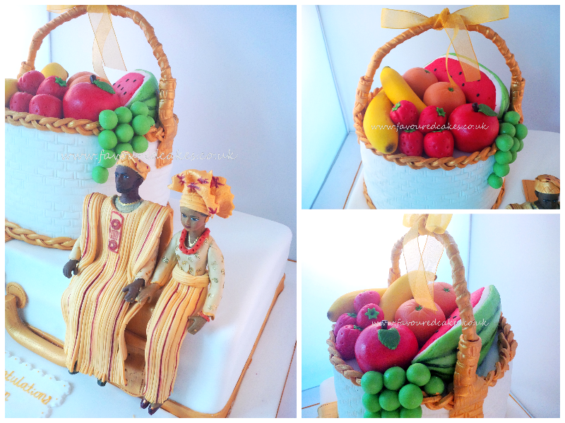 Fruit Basket & Suitcase Nigerian Traditional Wedding Cake