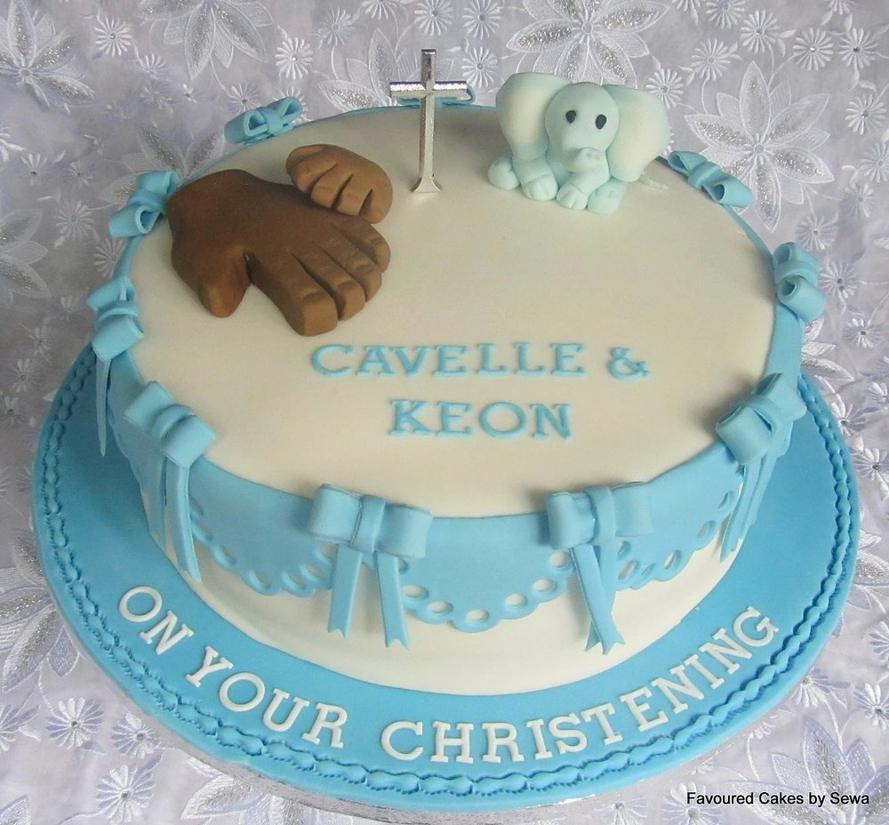 Bows & Frills Christening Cake BS18