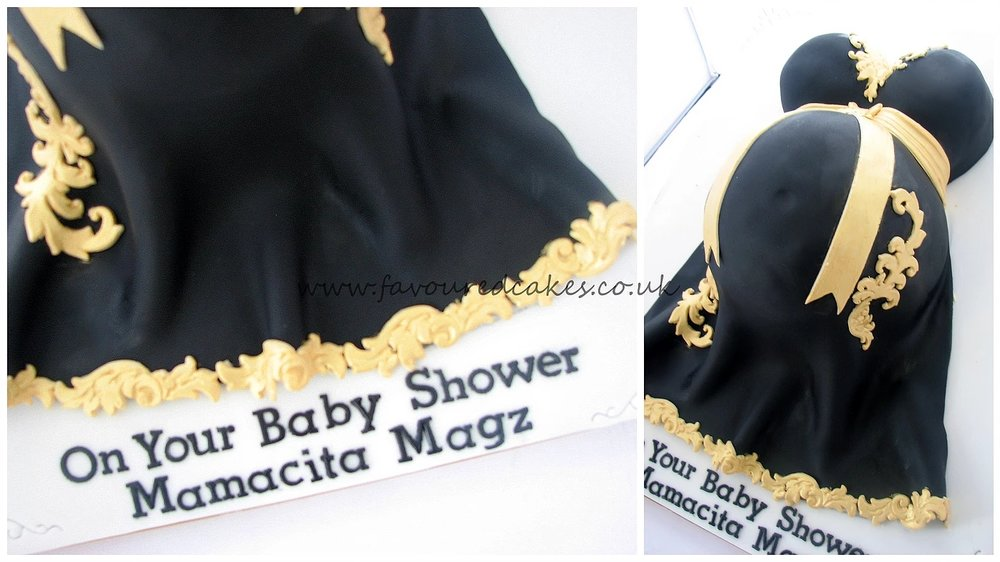 Baby Bump Cake Black Gold BS11