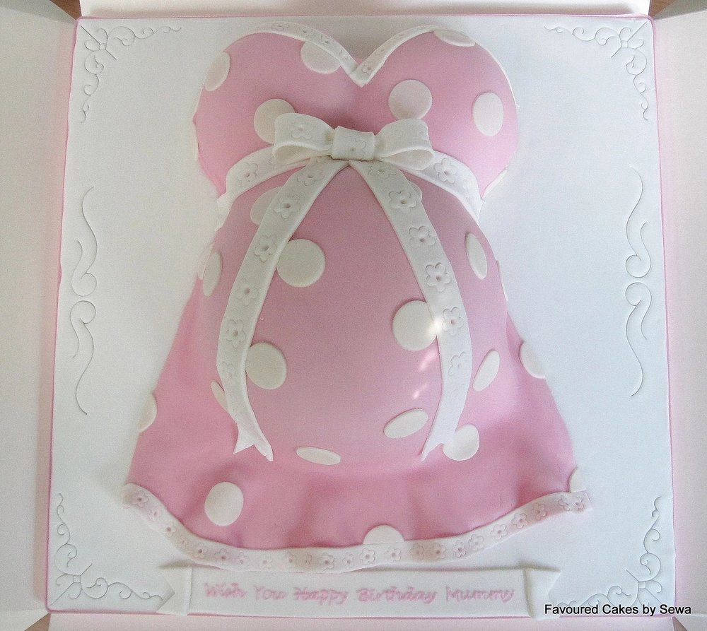 Baby Bump Cake Pink & White BS13