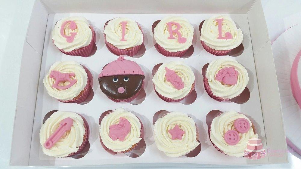 Baby Girl Face Cupcakes
