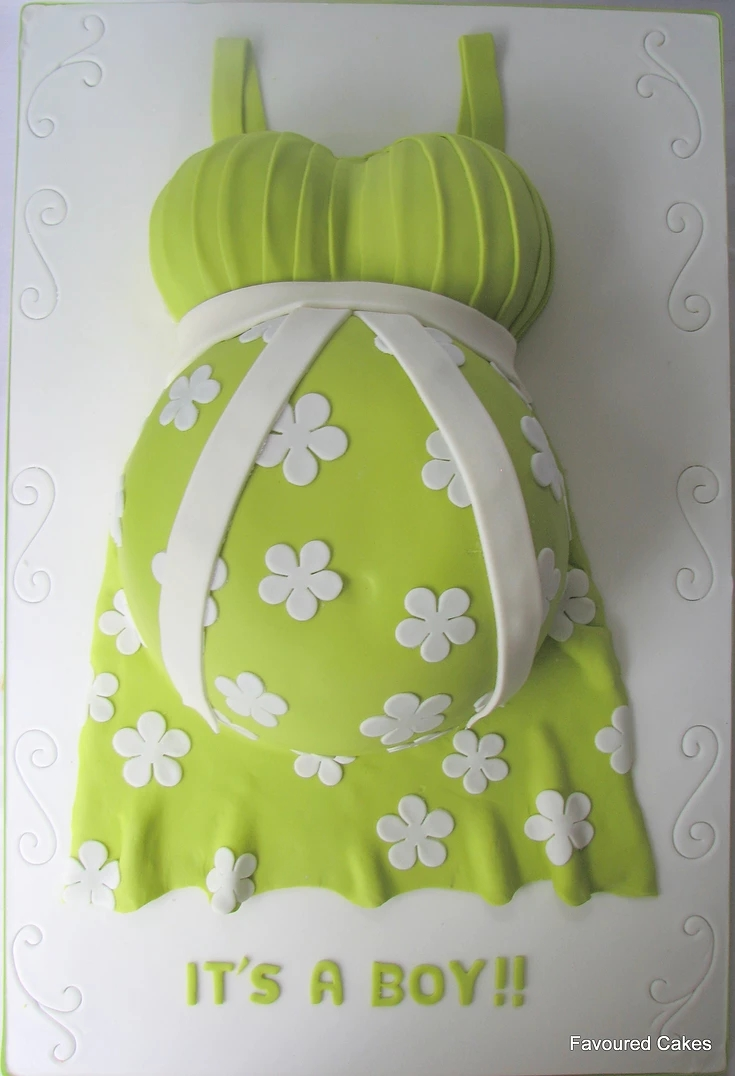 Baby Bump Cake Green Pleat BS14
