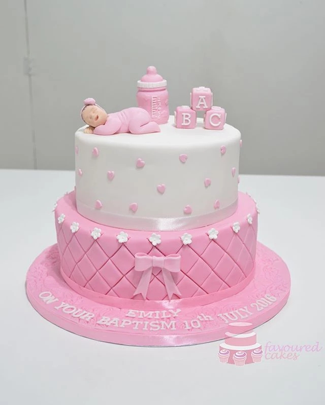Sleeping Baby Tiered Cake