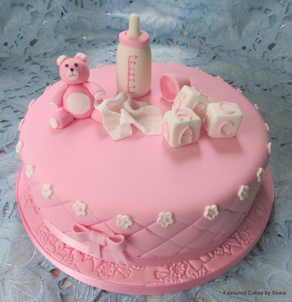 Teddy, Bottle and Blocks Cake BS17