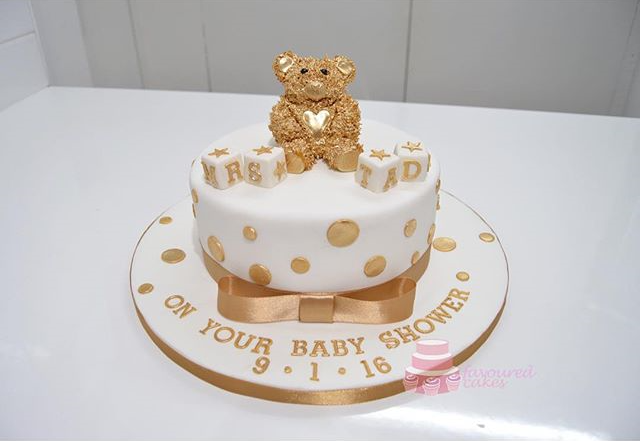 Gold Shaggy Teddy Cake