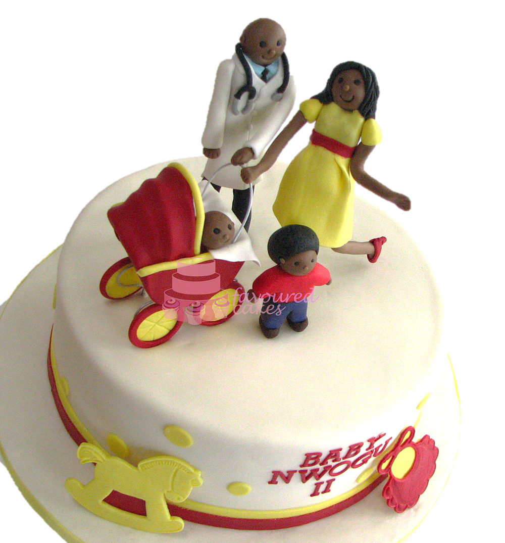 Baby Pram Baby Shower Cake BS1