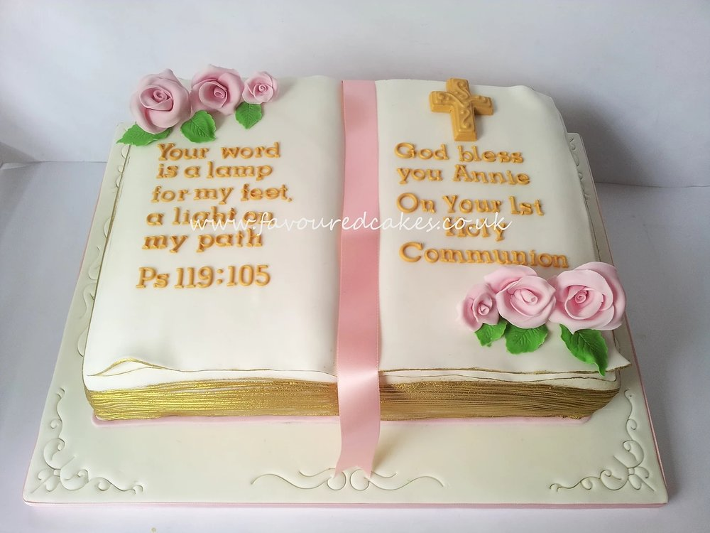 Open Bible Holy Communion Cake OB03
