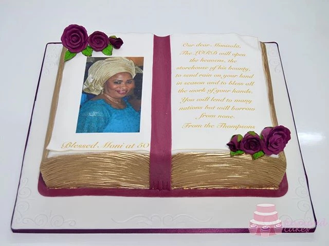 Open Bible Cake Picture Cake OB06