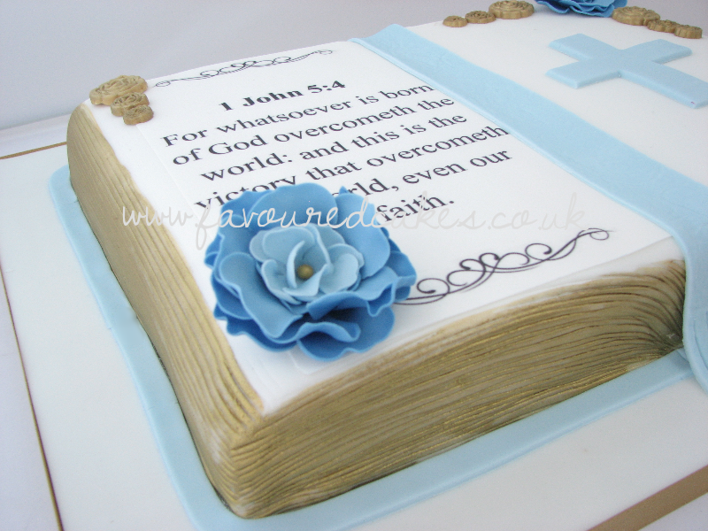Open Bible Cake OB02