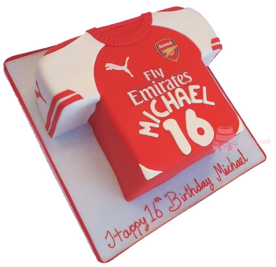 Arsenal Football T-Shirt Cake FBS01