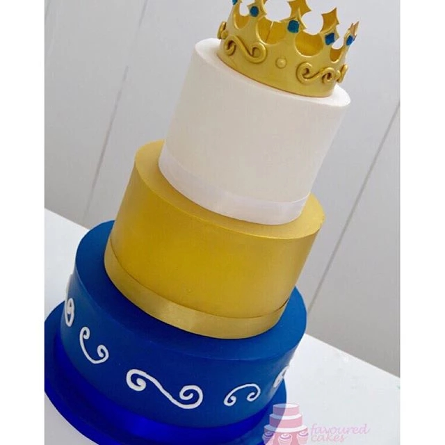 3 Tier Crown Boys Cake
