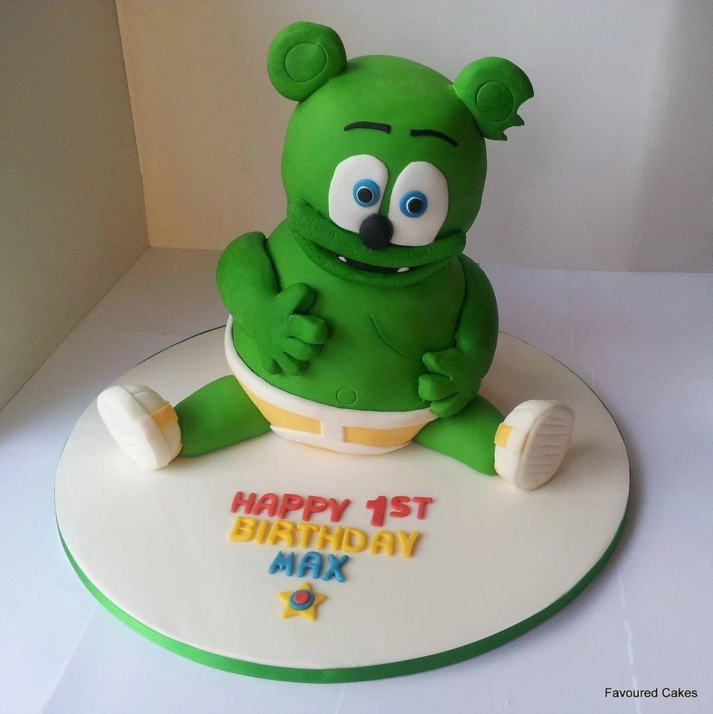 3D Gummy Bear Cake