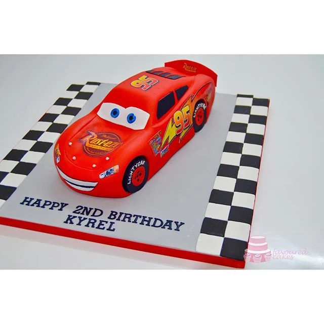 Lightening McQueen Cars Cake LM01