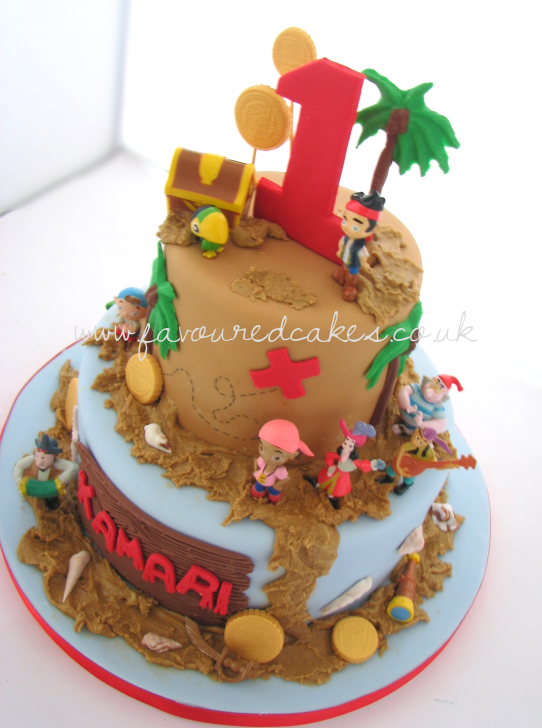 Jake & Neverland Pirates Cake JK01