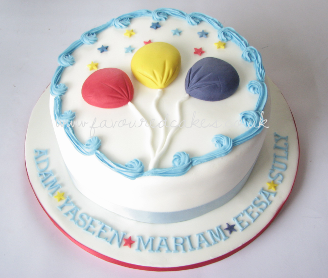 Balloon Birthday Cake CC05