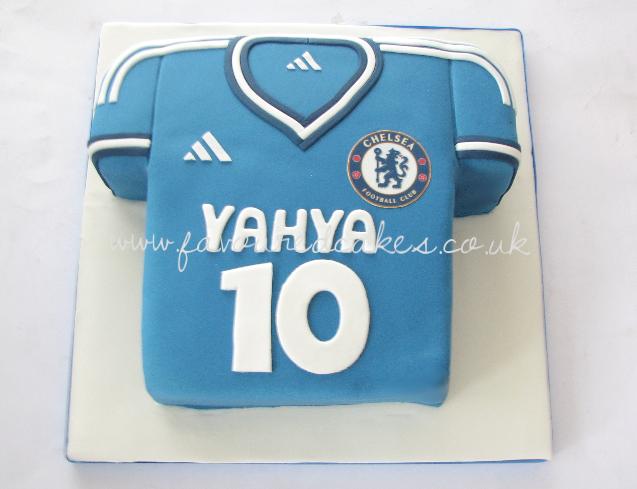 Chelsea football T-shirt Cake FBS02