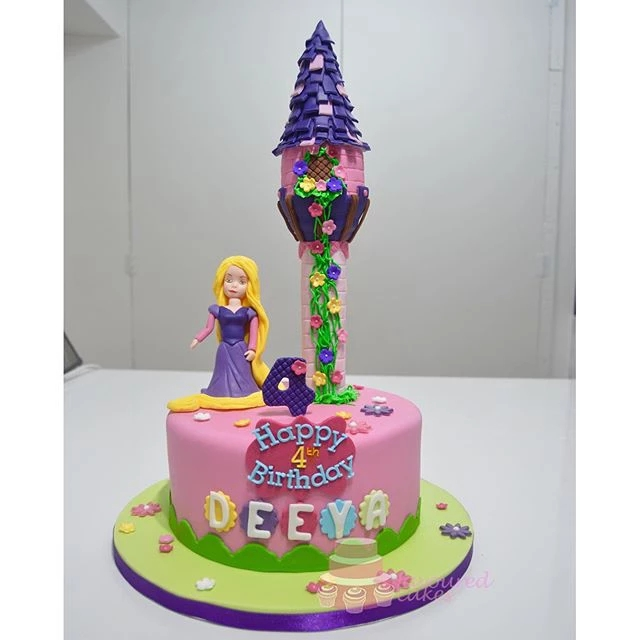 Princess Rapunzel Tower cake PR08