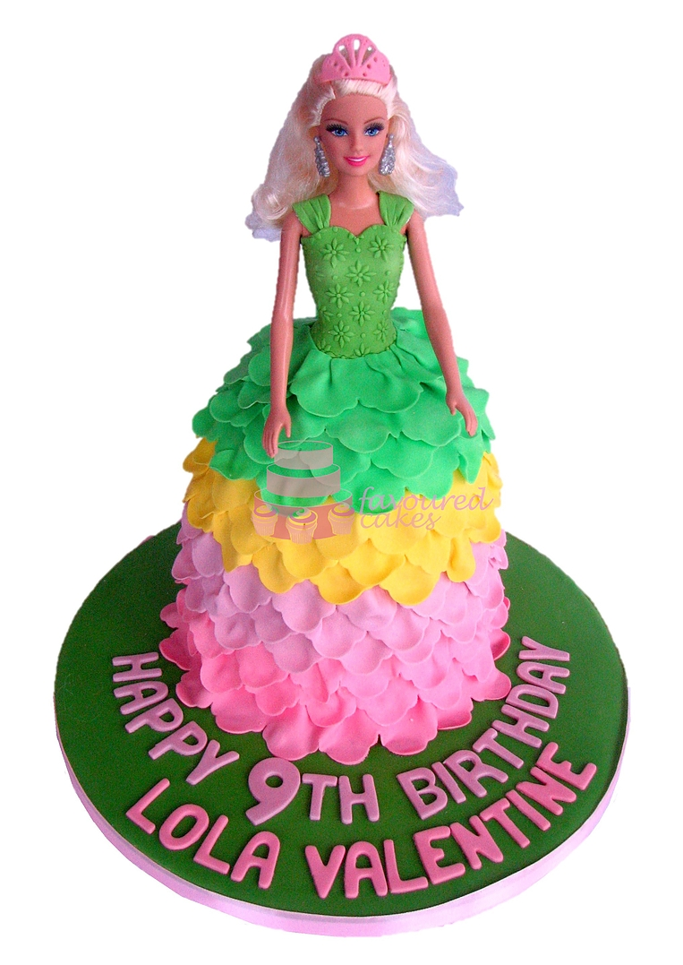 Princess Barbie Doll Cake PR04