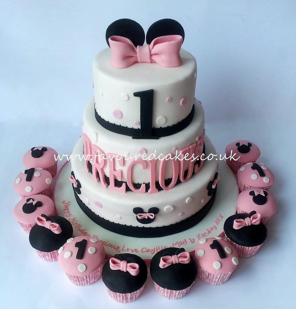 3 Tier Minnie Mouse Cake MM02
