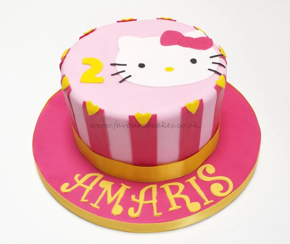 Hello Kitty Candy Stripe Cake HK01