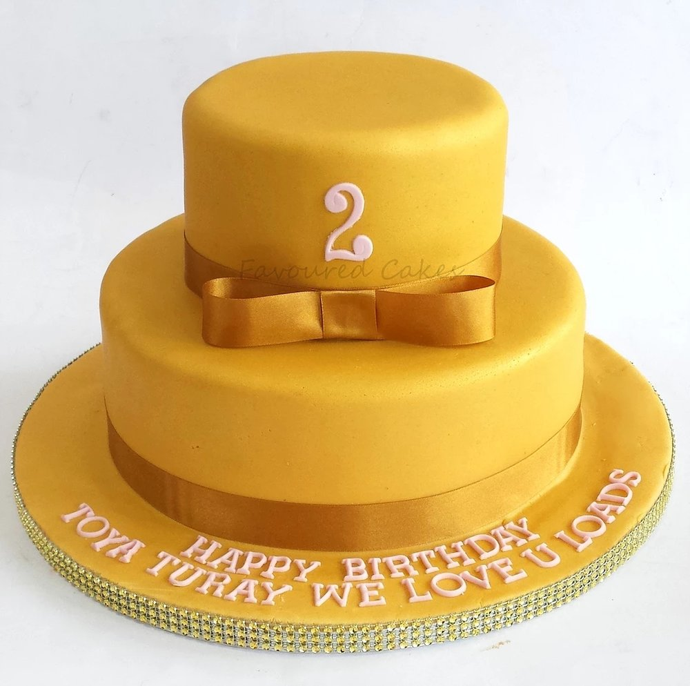 Gold Tiered Cake GD01