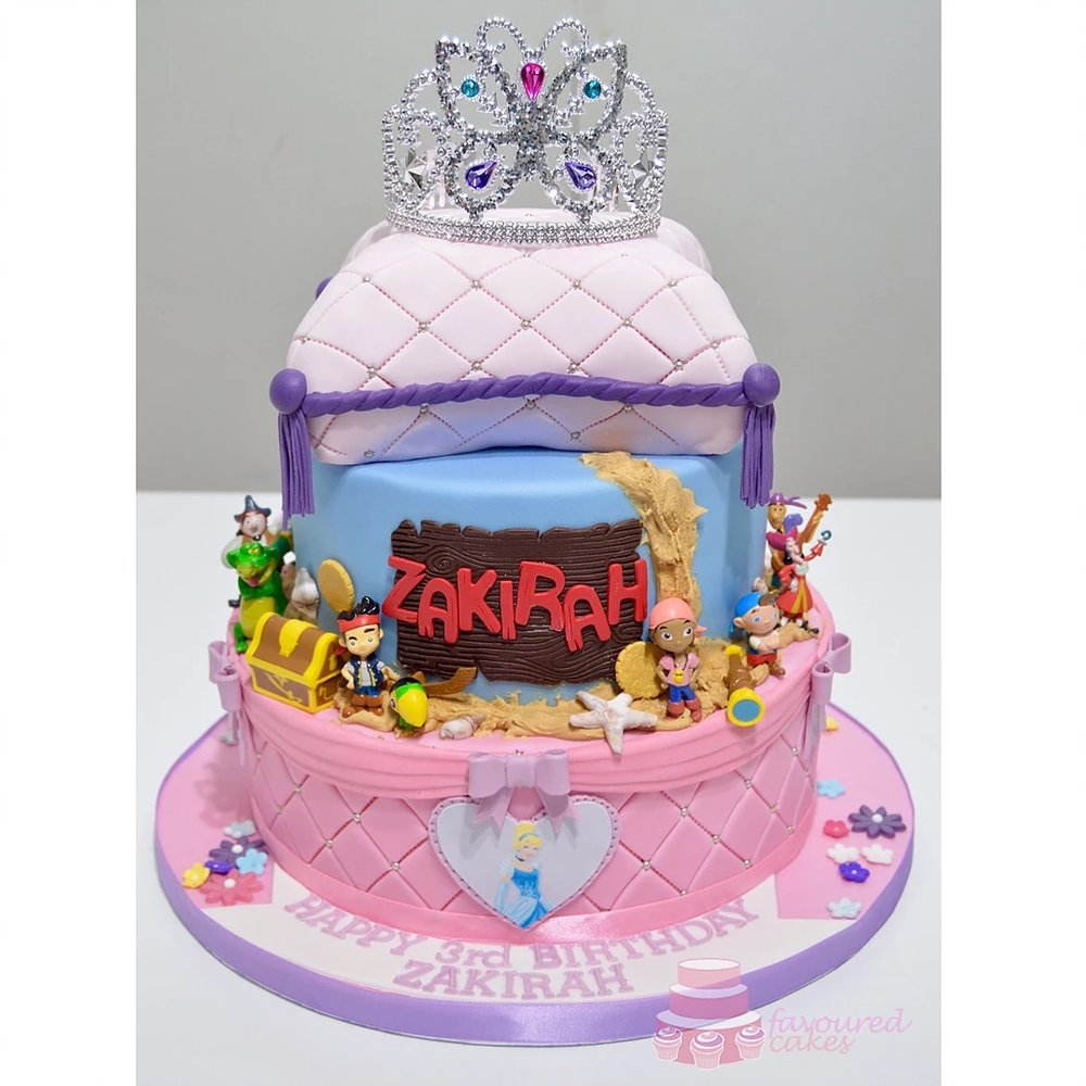 Princess & Pirates Cake
