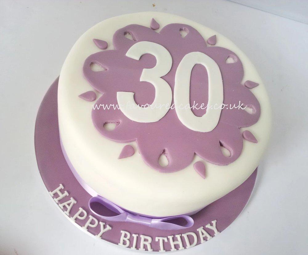 30 Number Round Cake