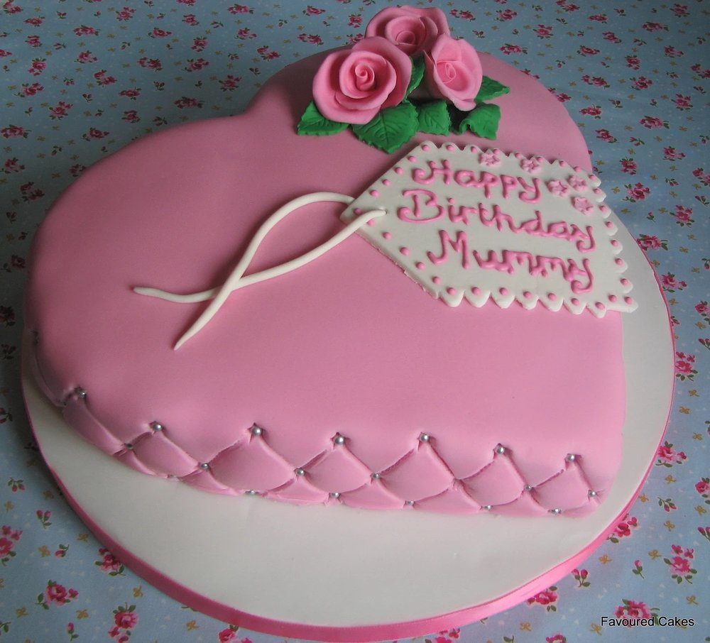 Heart & Large Diamond Studded Cake