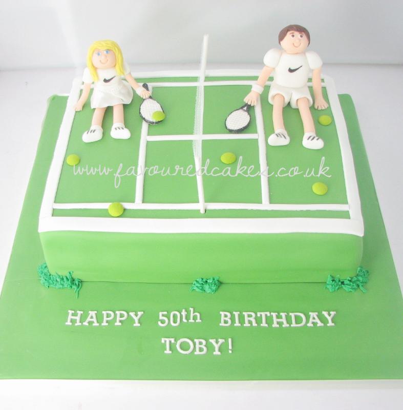 Tennis Court Cake
