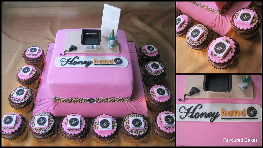 Honey Hand Salon Cake & Cupcakes