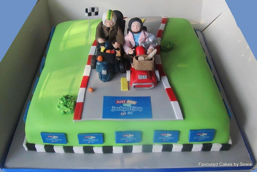 Jackpotjoy TV Ad Campaign Cake