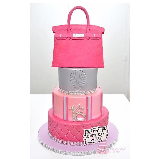 3 Tier Birkin Bag Cake BC07