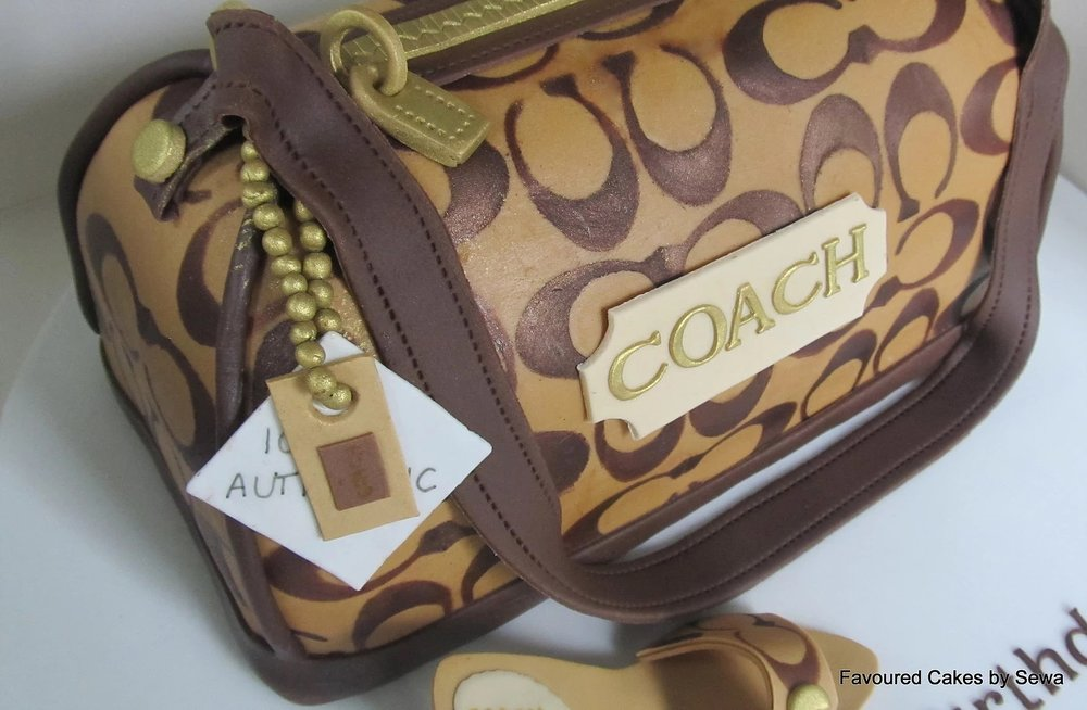 Coach bag Cake shoe Topper