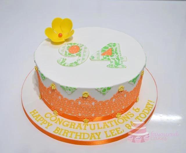 Orange Lace Cake