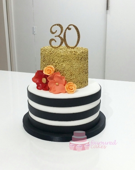 Sequin & Stripes Cake