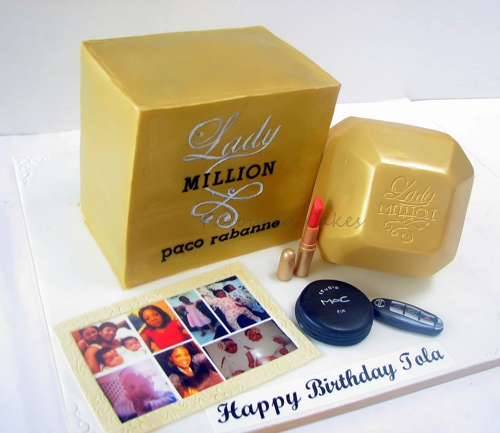 Lady Million Perfume Cake PF01