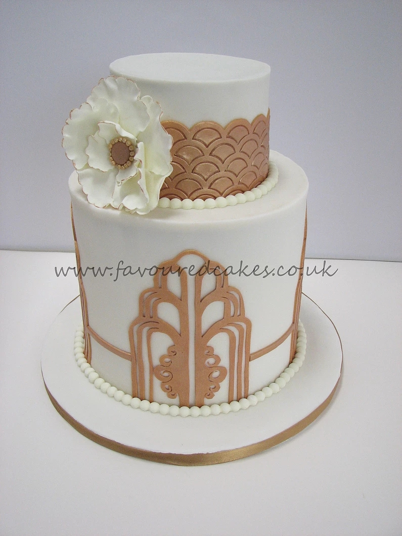 Gatsby Cake  Art deco Cake