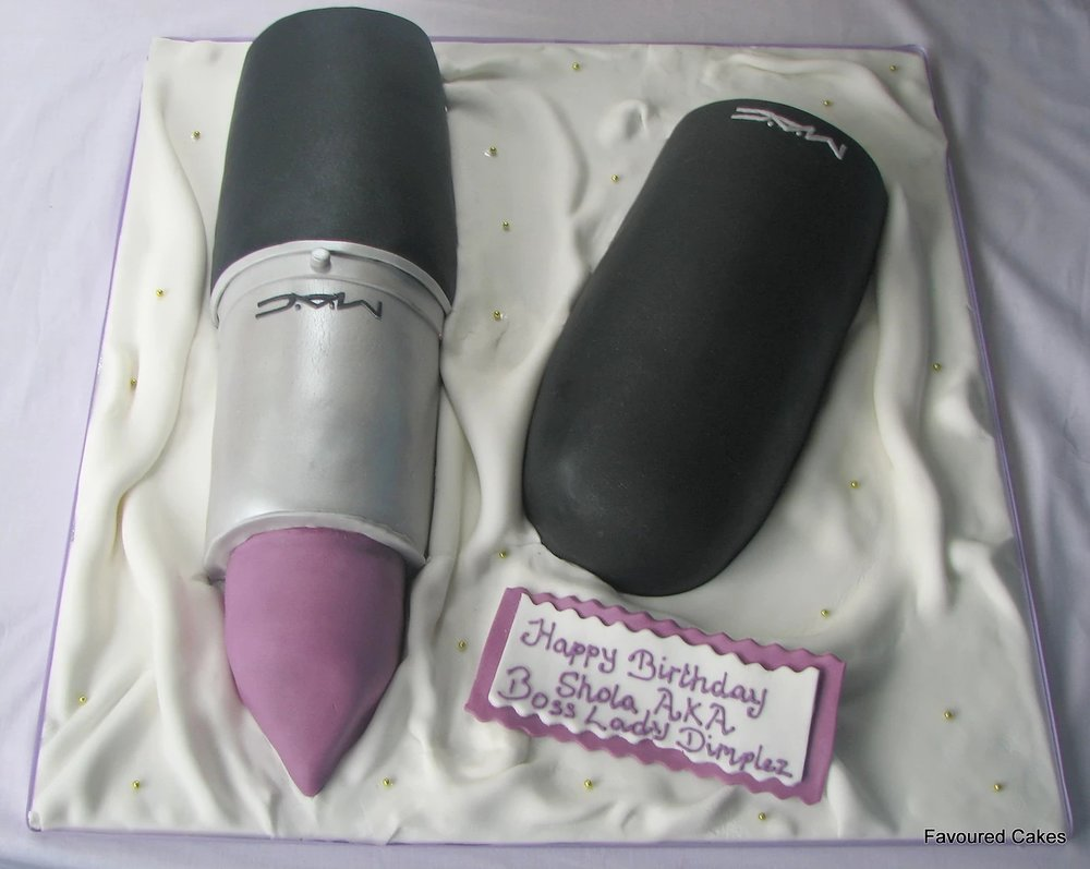 M.A.C. Lipstick and Lid Cake