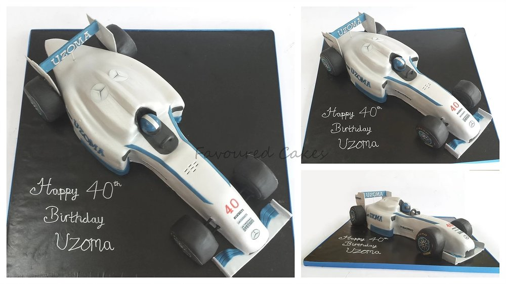 F1 Race Car Cake CC01