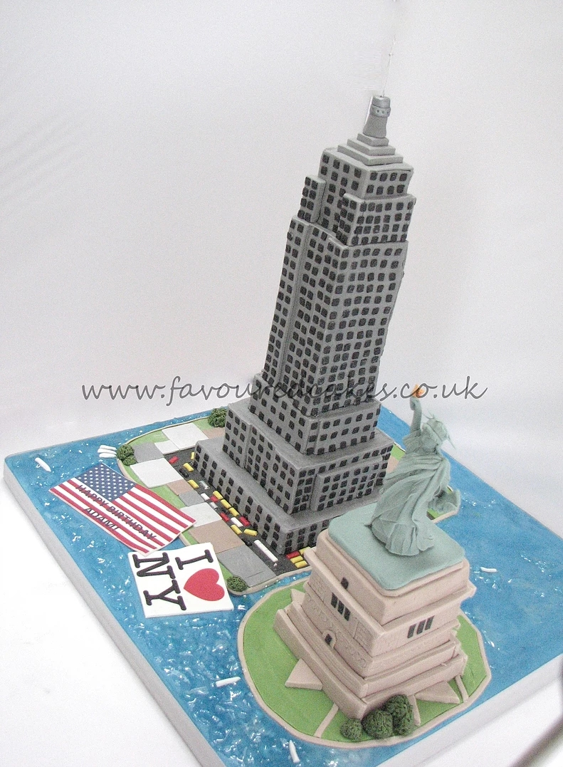 Statue of Liberty Empire State Cake NY01