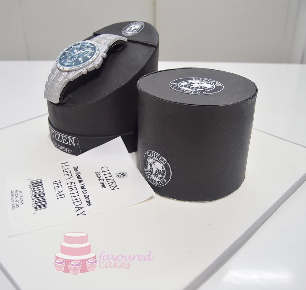 Citizen Box Watch Cake