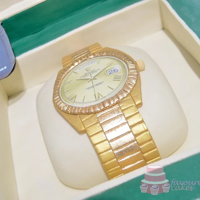 Rolex Watch Box Cake